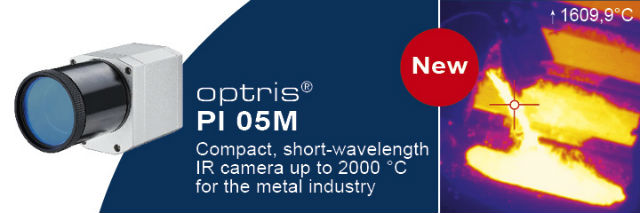 Optris PI 05M IR kamera for temperaturmålinger opop til 2000ºC