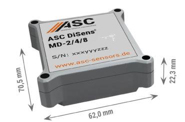 Digitalt akselerometer med tre akser
